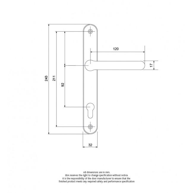BALMORAL LEVER / LEVER UPVC DOOR HANDLE WHITE
