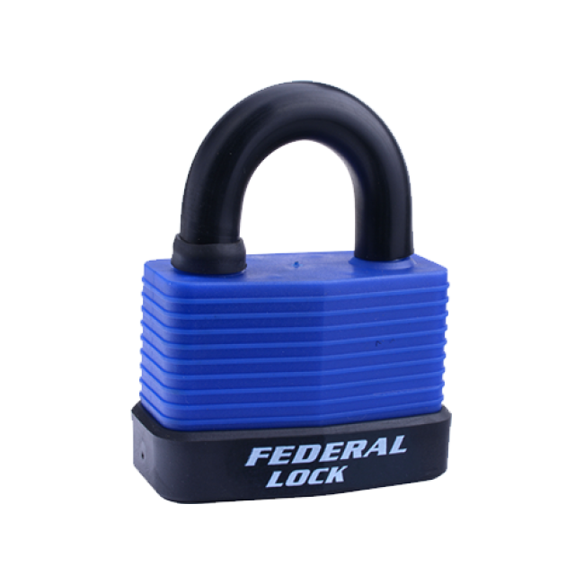 FEDERAL WEATHERPROOF PADLOCK 804WN 70mm ASSORTED COLOURS