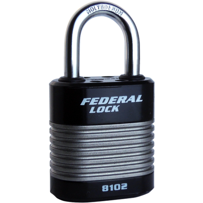 FEDERAL LAMINATED 44mm PADLOCKS 8102, 3 SHACKLE SIZES