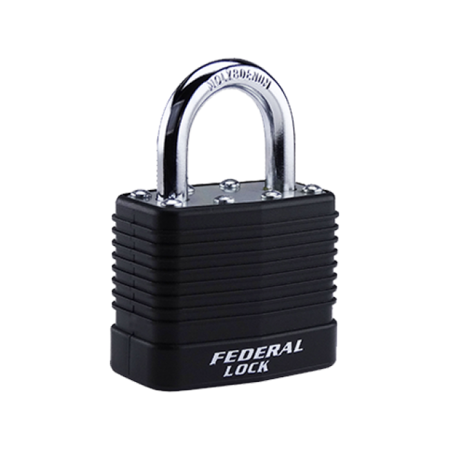 FEDERAL LAMINATED PADLOCK SEL802 40mm ASSORTED COLOURS