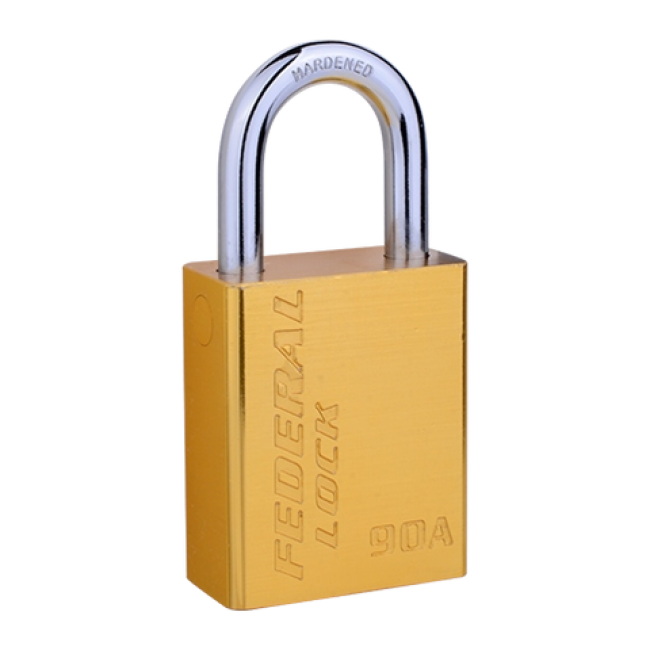 FEDERAL ALUMINIUM PADLOCK, 38mm, LONG SHACKLE 50mm