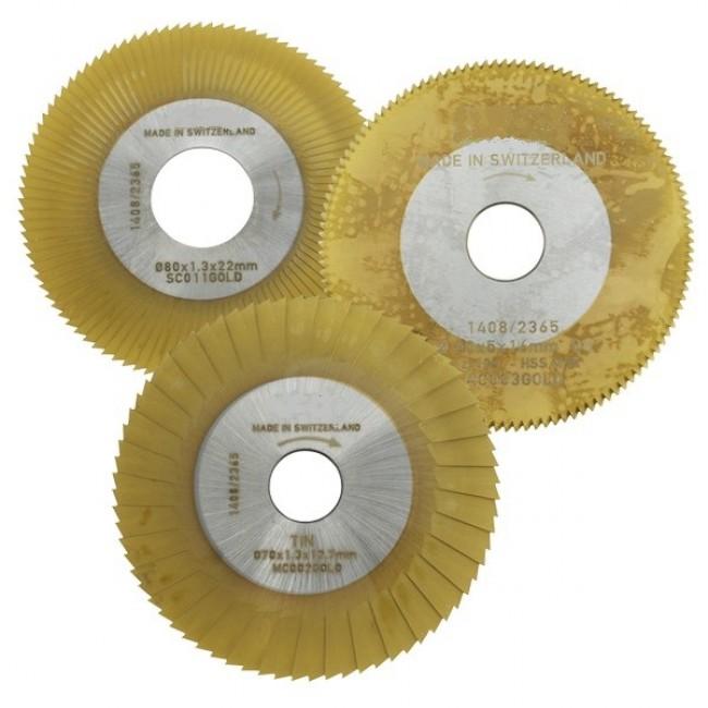 MORTICE CUTTER (SIDE & FACE / MC002 GOLD) TiN COATED FOR MANCUNA / RST MACHINE