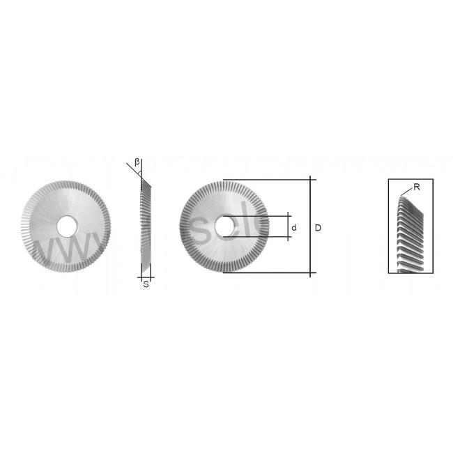 CYLINDER CUTTER (JC001 or CW1005) FOR MK3 AUTO KEY MACHINE