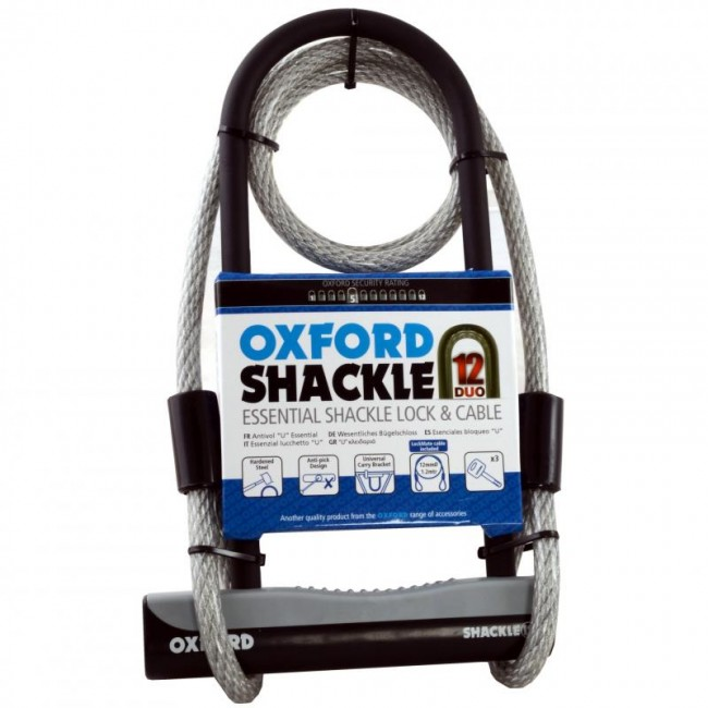 OXFORD SHACKLE, DUO D LOCK & CABLE