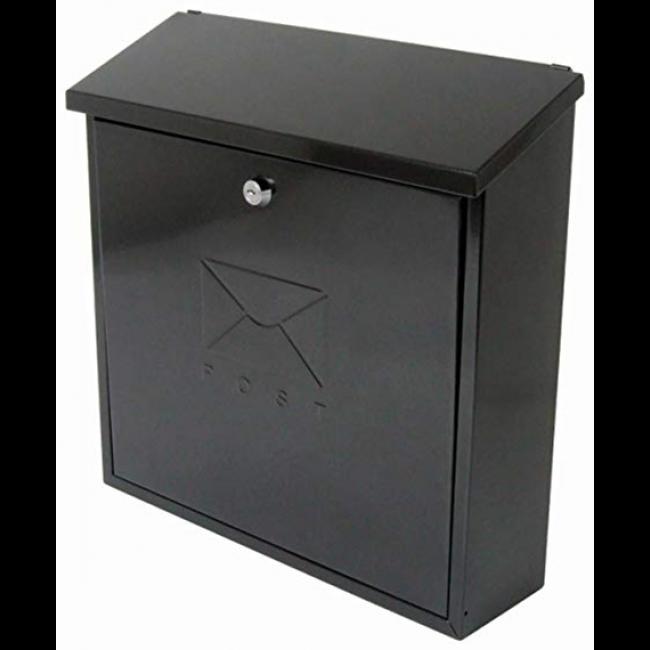 STERLING CONTEMPORARY POST BOX BLACK
