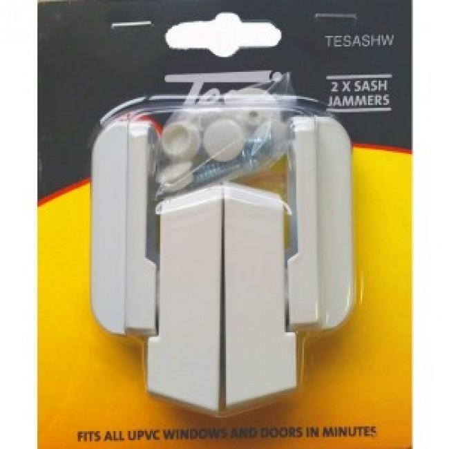 TESSI TESASHW NON LOCKING SASH JAMMER WHITE TWIN PACK