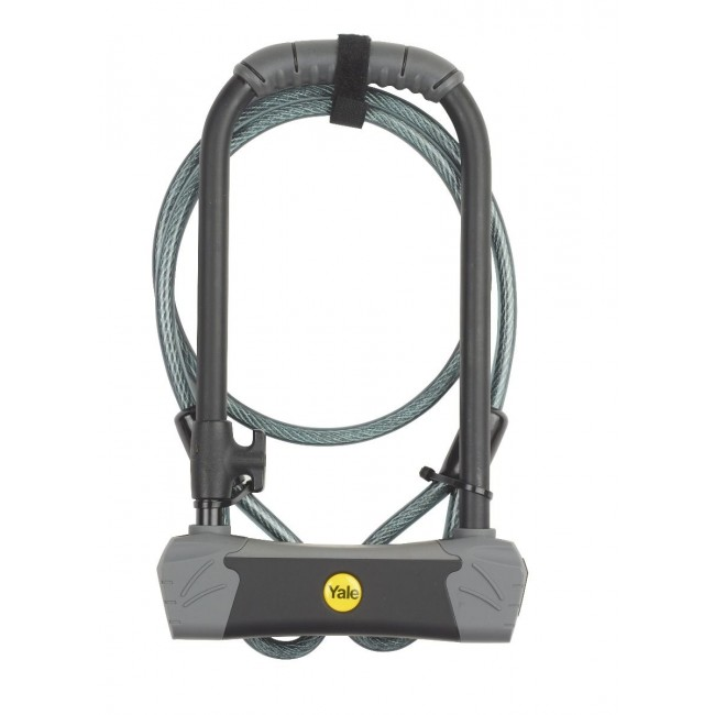 BIKE D-LOCK WITH CABLE SOLD SECURE GOLD